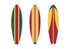 Surfboards Flat Vector