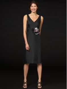 black silk dress from BR