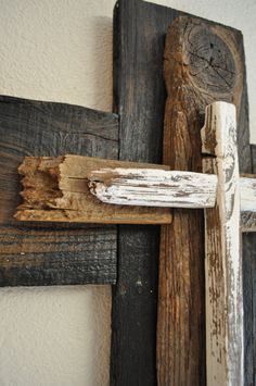 Black and white large cross One of a kind by heartifactsgallery, $60.00