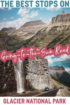 Driving Going-to-the-Sun Road in Glacier National Park Montana Glacier National Park Montana, Glacier Park, Yellowstone National Park, Usa Travel Guide, Travel Usa, Travel Tips, Road Trip Destinations, Us Road Trip, On The Road Again