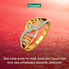 Unique blend of diamonds and gold to style your fingers Buy Now : https://www.chungathjewellery.com/gold/ring