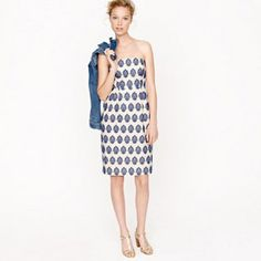 SOLD OUT! NWT $198 J.Crew Filigree Embroidered Stapless Dress Size 0 Style 83651. On sale for only $115!