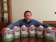 When Monty Stratton found out that Hatchimals were sold out almost worldwide he knew he had to find some so he could give them away.  What you see are 6 Hatchimals that he paid a premium for on Ebay that he is now giving away on social media!