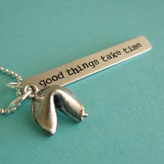 Fortune Cookie Necklace  Personalized fortune  by SpiffingJewelry, $26.00