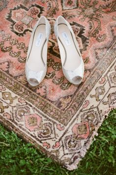 silver wedding shoes #silvershoes #sparklyshoes #weddingchicks http://www.weddingchicks.com/2013/12/20/red-and-navy-wedding-ideas/