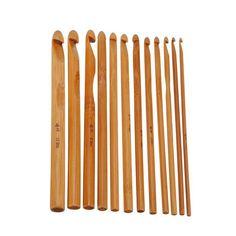 12 Pcs Camisola de confecção de malhas Circular Alça de Bambu Crochê Ganchos Suave Tecer Ofício da Agulha de 12 Tamanho em Ferramentas de costura e acessórios de Home & Garden no AliExpress.com | Alibaba Group