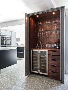 Modern hidden bar  BilliardFactory.com