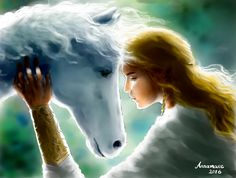 Asfaloth and Glorfindel by annamare Watch Report Fan Art / Digital Art / Painting & Airbrushing / Books & annamare Glorfindel, J. R. R. Tolkien, Character Sketches, Dark Gothic, Legolas, The Elf, Book Characters, Fantasy World, Middle Earth