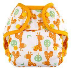 """Giraffe"" Blueberry Capri Diaper Covers - Snaps"