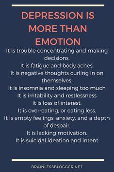 #Depression is more than emotions. #mentalillness #mentalhealth