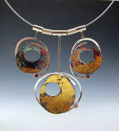 Gorgeous necklace by Aimee Domash, love the different techniques used to create a patinated look.
