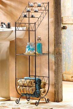southwest home decor | Southwest Home & Bath Decor Metal Floorstanding Votive Candle Holder W ...