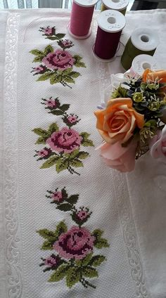 Vintage Roses cross stitch pattern flowers cross stitch roses cross stitch flowers wall decor rose cross stitch pattern gift for mom roses Cross Stitch Fruit, Cross Stitch Rose, Cross Stitch Borders, Cross Stitch Flowers, Cross Stitch Designs, Cross Stitching, Cross Stitch Patterns, Hand Embroidery Design Patterns, Hand Embroidery Dress