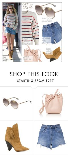 """Celebrity Look: Rosie Huntington-Whiteley"" by smartbuyglasses ❤ liked on Polyvore featuring Jimmy Choo, Whiteley, Mansur Gavriel, Isabel Marant, T By Alexander Wang, GetTheLook, jimmychoo, sunglasses, RosieHuntingtonWhiteley and CelebrityStyle"