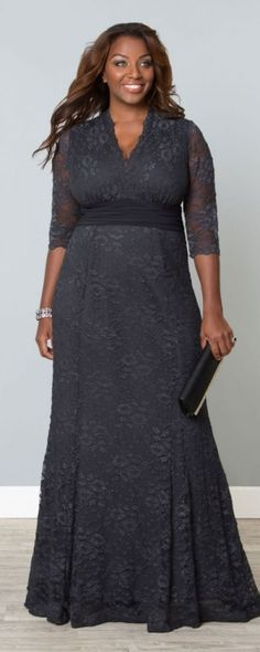 Stunning Casual Gray Gown for Mothers of the Bride and Groom . Plus Size