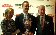 Peyton and his parents at SI Athlete of the Year Awards
