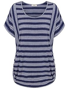 Special Offer: $26.99 amazon.com Vivilli Women's Round Neck Summer Batwing Cool Relaxed Loose Fit Short Sleeves Striped Tops When you want an always chic and in trend selection of fashions, you want Vivilli women's clothing, from on-trend tunic tops to fun and feminine dresses,...