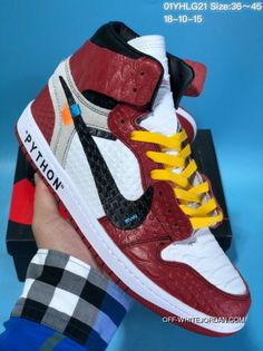 7469e921c260 New Year Deals New Colorways Ow Collaboration Snakeskin Leather Jordan  Series Women Shoes And Men Shoes