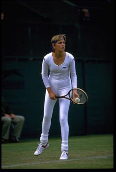 Wimbledon 1985 Anne White. La mode des 80's !