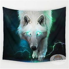 Wolf spirit pattern wall tapestry