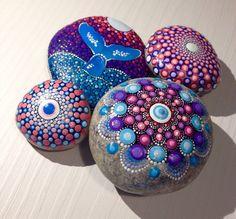 Gartendekoration - Perfekt Mandala - Gemalter Stein - Fee Garten - ein Designerstück von CreateAndCherish bei DaWanda
