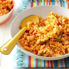 Salsa Rice Recipe -It's a snap to change the spice level in this popular rice side dish by choosing a milder or hotter salsa. It's a delicious way to round out burritos or tacos when the clock is ticking. —Molly Ingle, Canton, North Carolina