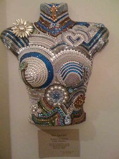 Home Décor Bust Sculpture with Gemstone Beads, Glass Beads, Pearls and Seed Beads - Fire Mountain Gems and Beads