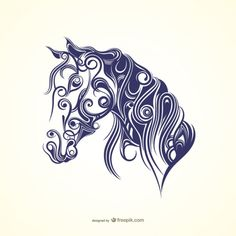 horse head wall tattoo silhouette digistamp pferd pinterest die besten ideen zu. Black Bedroom Furniture Sets. Home Design Ideas
