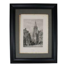 Ruetlingen Framed Picture, Antique Photograph Wood, Wall Decor, Frames On Wall, Picture Frames, Black Walls, Glass, Frame