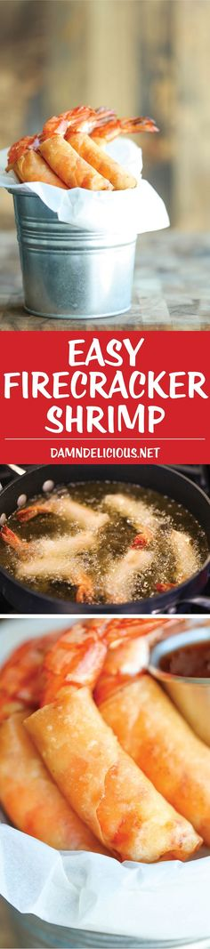 Easy Firecracker Shrimp - Amazingly crisp, sweet and just the perfect amount of heat. It's a perfect blend of flavors, and it's just so easy to whip up! A must for Game Day!
