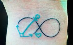 Tatuagem Navy + Infinito.