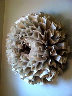 Diy Folded Book Wreath (full Tutorial).
