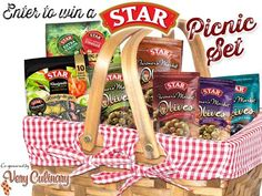 STAR Picnic Set Sweepstakes WIN a STAR Picnic Set including their single-serving packs, Olive Pouches and a Basket ENDS 8/2