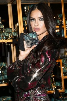 Adriana Lima wearing Marc Jacobs Resort '17 at the Marc Jacobs Divine Decadence party in Los Angeles