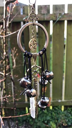Wiccan Crafts, Wiccan Decor, Angel Protection, Titanium Aura Quartz, Magick, Witchcraft Herbs, Wind Chimes, Paganism, Dream Catcher