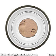 Adorable Kitten Puppy Paws Pet Bark Meow Pet Bowl