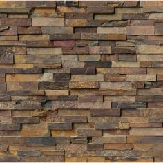MS International California Gold Ledger Panel 6 in. x 24 in. Natural Slate Wall Tile (5 cases / 20 sq. ft. / Pallet)-LPNLSCALGLD624 - The Home Depot $6.99/sq ft, $139.80/20 sq ft