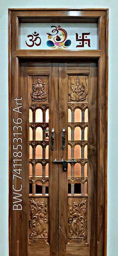 Outdoor Shutters, Pooja Room Door Design, Shree Ganesh, Room Doors, Wine Rack, God, Decoration, Home Decor, 3d Wall Panels
