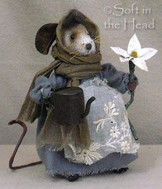 Soft in the Head: My Life with Mice! Needle Felted Animals, Felt Animals, Needle Felting, Wool Felting, Mouse Crafts, Felt Crafts, Handmade Stuffed Animals, Crochet Mouse, Felt Mouse