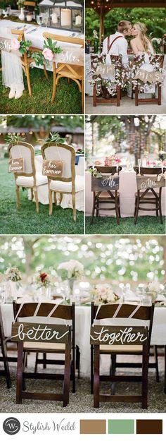 bride and groom wedding chair decor ideas