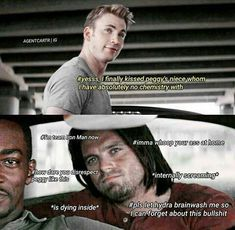 Bucky is everyone in this moment. Except for being team Iron Man. Otherwise, yeah. How dare? Marvel Jokes, Avengers Memes, Marvel Funny, Marvel Dc Comics, Marvel Avengers, Dc Memes, Funny Memes, Movie Memes, Bucky And Steve