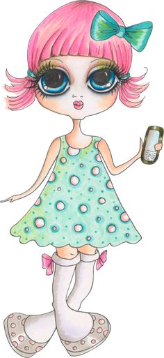 "Photo from album ""Sweet Girl /Милая девочка"" on Yandex. Cute Girl Drawing, Cute Drawings, Cute Little Girls, Sweet Girls, Copic Color Chart, Princess Cartoon, Cute Images, Art Portfolio, Cute Dolls"