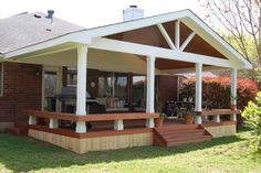 These free standing patio cover kits are affordable to buy and easy to install in your backyard! Learn more about the products here and build your dream patio! Covered Deck Designs, Covered Patio Design, Covered Decks, Covered Deck Ideas On A Budget, Covered Porches, Budget Patio, Backyard Covered Patios, Backyard Patio, Backyard Ideas