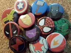 Hey, I found this really awesome Etsy listing at https://www.etsy.com/listing/209265160/avengers-buttons-iron-man-captain