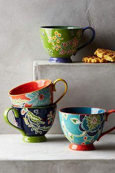 Bellina Blooms Mug - anthropologie.com #coffee #coffeemug