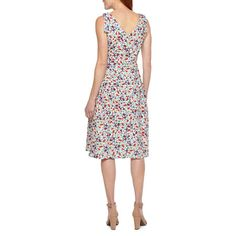 Liz Claiborne Sleeveless Floral Fit & Flare Dress Fit Flare Dress, Fit And Flare, Liz Claiborne, Sleeve Styles, Cotton Fabric, Closure, Content, Summer Dresses, Type
