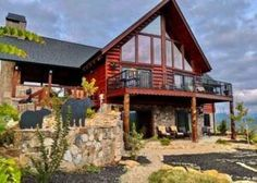 Mountain Majesty is truly a one of a kind custom built log home with luxurious accommodations and stunning mountain views. Gatlinburg Cabin Rentals, Tub Shower Combo, Pool Decks, Bedroom Loft, Walk In Shower, Vacation Places, Gas Fireplace, Log Homes, Mountain