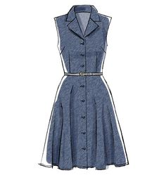 M6891 - Misses' Dresses and Sash Dresses have collar, semi-fitted bodice and narrow hem. use snaps instead of buttons?!