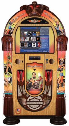 American Beauties Nostalgic Music Center Harley Davidson Jukebox   From Rock Ola Jukeboxes      Get more information about this game at: http://www.bmigaming.com/games-catalog-rockola.htm