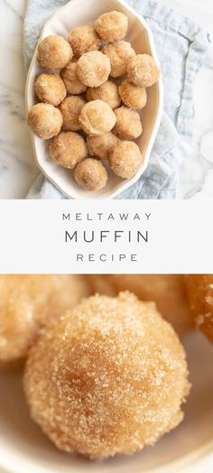 These meltaway muffins are a deliciously simple Cinnamon Muffin Recipe made with staple ingredients. They're rolled in butter and cinnamon sugar, and when warm, they melt in your mouth! These are perfect mini muffins for a fall breakfast or brunch treat! Breakfast Desayunos, Breakfast Dishes, Breakfast Recipes, Muffin Recipes, Baking Recipes, Potato Recipes, Little Muffins, Baby Muffins, Simple Muffin Recipe